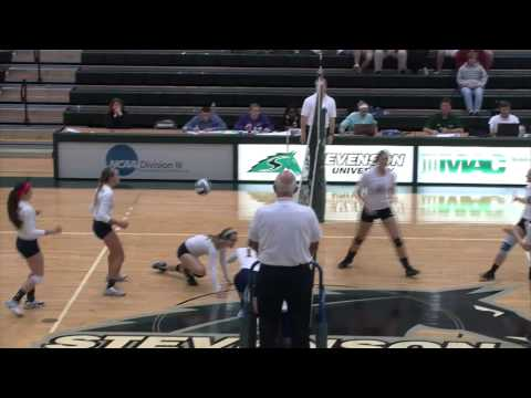 Women's Volleyball Highlights: Stevenson vs. Wilkes