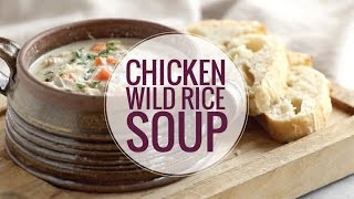 CROCKPOT CHICKEN WILD RICE SOUP! A super simple soup with hardly any prep. Perfect for a cozy, chilly night! Full recipe: ...