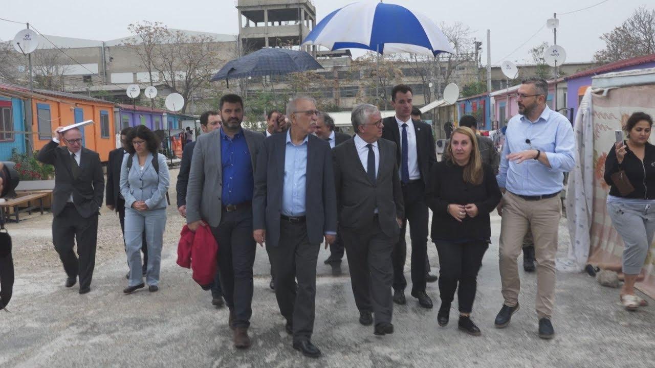 Επίσκεψη του υπ. Μεταναστευτικής Πολιτικής Δ. Βίτσα με τον Πορτογάλο ΥΠΕΣ στον Ελαιώνα