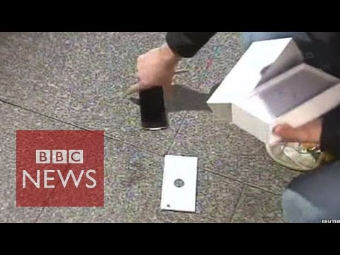 brand new - Jack Cooksey became the first person to buy the new iPhone 6 in Perth, Australia, after queuing overnight - only to drop it as he was interviewed by Channel 9. There were cries of shock from...