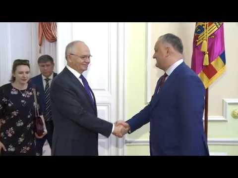 Președintele Republicii Moldova, Igor Dodon a avut o întrevedere cu Farit Muhametșin, Ambasadorul Extraordinar şi Plenipotenţiar al Federaţiei Ruse în Republica Moldova