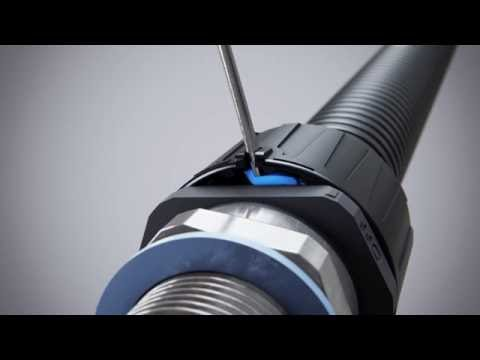 Flexicon Ultra capnut animation - removal of fitting from conduit