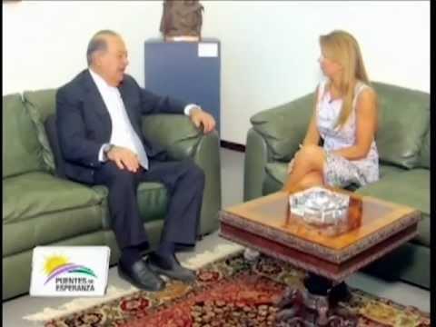 """Entrevista a Carlos Slim realizada por Bettina Bulgheroni, para el programa """"Puentes de Esperanza""""."""