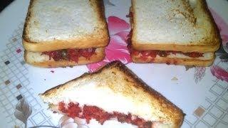 Bread sandwich or veg bread sandwich