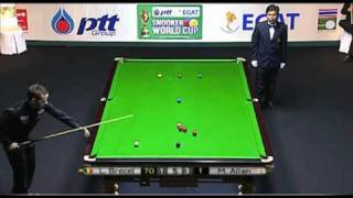 Snooker - 2011 World Cup - Luca Brecel's First Pro Century
