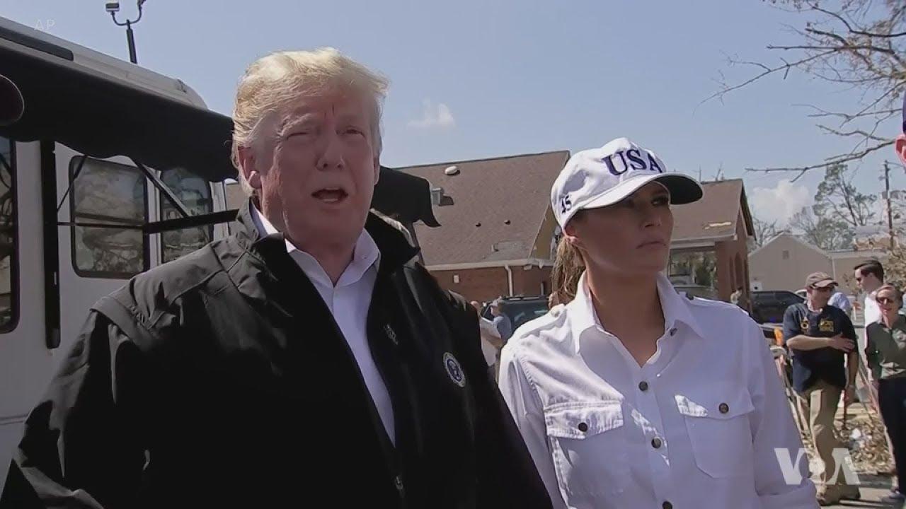 Ο Ντόναλντ και η Μελάνια Τραμπ επισκέπτονται τις περιοχές της Φλόριντα που έπληξε ο κυκλώνας Μάικλ