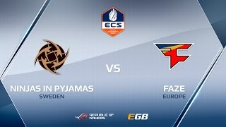 FaZe vs NiP, map 2 train, ECS Season 2 Europe