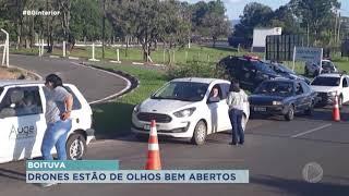 Boituva usa drones para fiscalizar aglomeração no município
