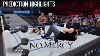 WWE 2K16: AJ Styles vs Dean Ambrose vs John Cena - No Mercy 2016 Prediction Highlights