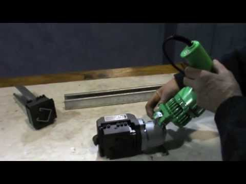 Stainelec M-40L Electric Hydraulic Strut Cutter - Materials Demonstration