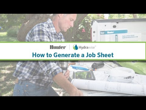 Hydrawise: How to Generate a Job Sheet