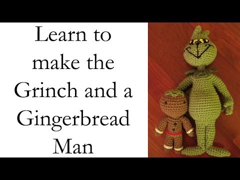 Making Christmas Dolls: Grinch and Gingerbread Man