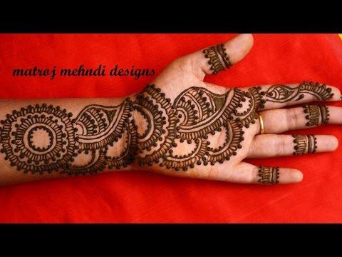 Simple mehndi design for kids hands