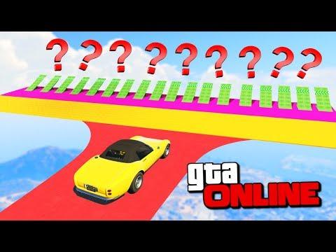 1001 РАМПА! КАКАЯ ИЗ НИХ ДОВЕДЕТ ДО ФИНИША? ГОНКИ GTA 5 ONLINE ( ГТА 5 ГОНКИ ) (видео)