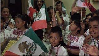 Niños otomíes cantan en Roma esperanzados por un México de pie