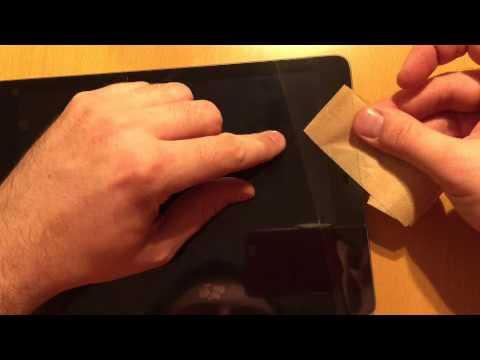 Folie blasenfrei auf iPad / iPhone / Tablet / Handy / Smartphone kleben