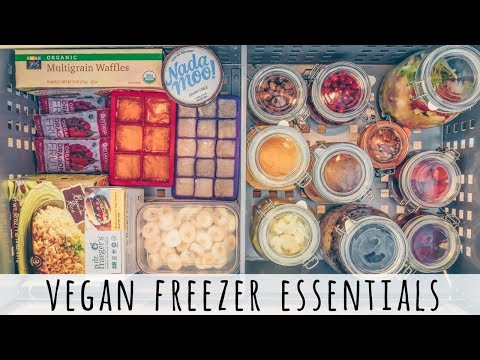WHAT'S IN MY VEGAN FREEZER | vegan freezer meals + essentials