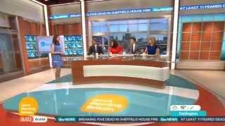 Susanna Reid, Ben Shephard, Charlotte Hawkins and Sean Fletcher introduce the first ever edition of ITV's latest breakfast show Good Morning Britain