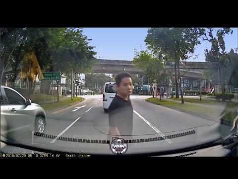20jul2018 Rivervale Crescent , Sliver Honda Vezel SGA1199R  unhappy abt horning & confronted cam car