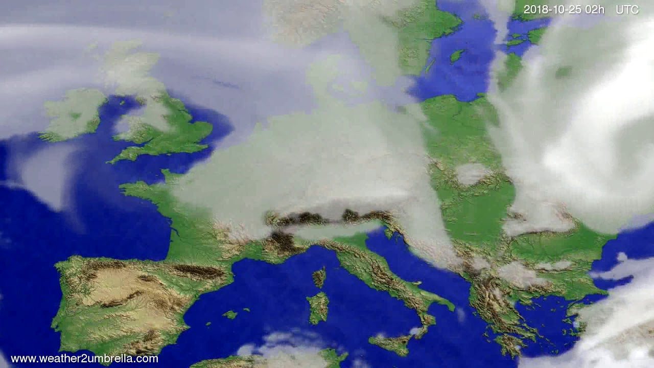 Cloud forecast Europe 2018-10-21