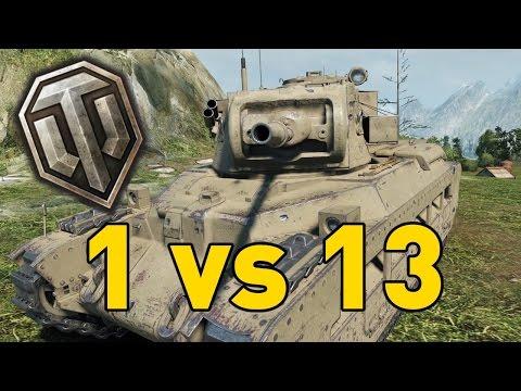 World of Tanks || 1 vs 13 - Matilda