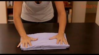 Como dobrar um lençol com elástico ... sabe?
