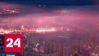 К экстремальным холодам в Москве добавился туман