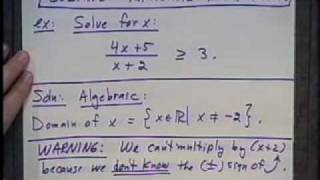 College Algebra - Lecture 21 - Inequalities In One Variable