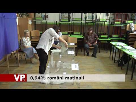 0,94% români matinali