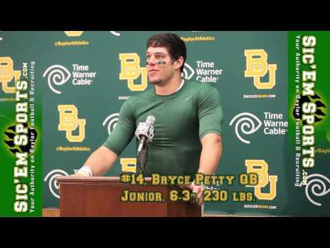 Bryce Petty Interview 10/20/2013 video.