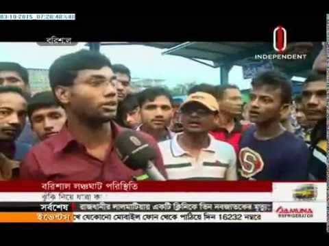 People risk lives while returning to Dhaka (03-10-2015)