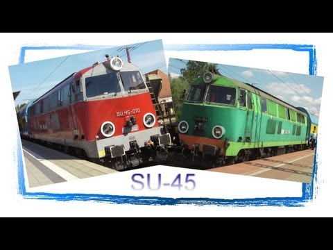 The Last Polish SU45 Diesel Locomotives - and many Freight Trains at Rzepin!