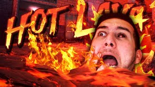 PARKOUR FOR YOUR LIFE! THE FLOOR IS LAVA!!!! | Hot Lava