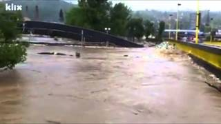 Frightening Video Of A Flooded River Tearing Apart A Bridge