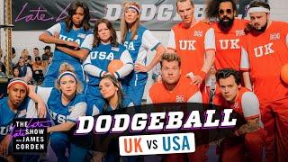 Video Team USA v. Team UK - Dodgeball w/ Michelle Obama, Harry Styles & More - #LateLateLondon MP3, 3GP, MP4, WEBM, AVI, FLV Juni 2019