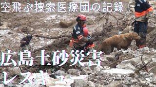 傷つき、泥にまみれ、広島で救助活動をつづける『災害救助犬』の姿16枚