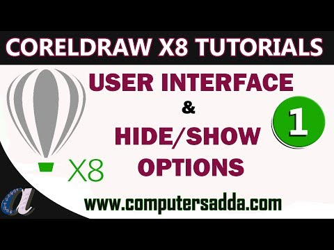 CorelDraw Telugu Tutorials - 01 || User Interface & Hide/Show Options ||Computersadda.com