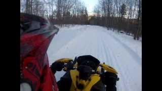 6. Rumney, NH Trail Ride - 2009 Ski-Doo MXZ TNT 500ss - GoPro Hero 3