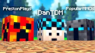 Minecraft YouTuber Lucky Block Mod Challenge (PrestonPlays, DanTDM, PopularMMOS)   JeromeASF