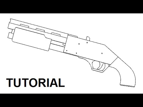 Pump action rubber band shotgun - $5 plans and free tutorial