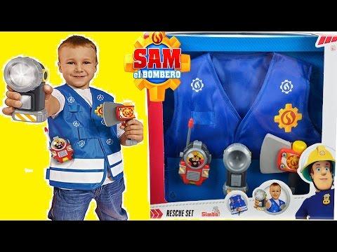Sam el bombero juguetes conjunto de rescate - Bombero Sam Set Accesorios de Rescate