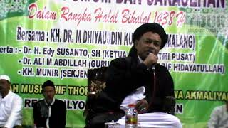 Pengajian Tasawuf Tarekat Syattariyah Akmaliyah KH. Dr Dhiyauddin Qhuswandi