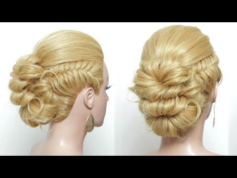 Hairstyles for long hair - Easy Messy Bun Updo Hairstyle For Long Hair Tutorial