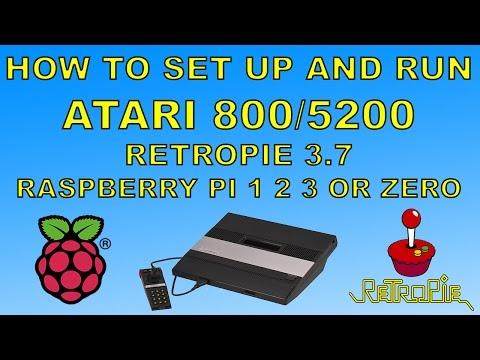 How To Run Atari 800 or 5200 Games On Retropie 3.7 Raspberry pi 1 2 3 Or Zero