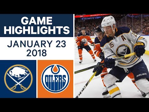Video: NHL Game Highlights | Sabres vs. Oilers — Jan. 23, 2018