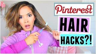 Pinterest HAIR Hacks Tested! by ThatsHeart