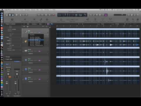 Logic Pro X – Video Tutorial 19 – Flex Time Part 2 – Rhythmic and Slicing