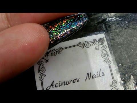 Diseños de uñas - Uñas  para graduación doble efecto/ chrome black & galaxy Nails/ colaboración taly riot grrrr