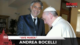 "Download Lagu Andrea Bocelli interpreta el ""Ave María"" de Bach en el Vaticano Mp3"