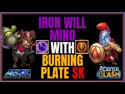 IRON WILL MINO - SKULL KNIGHT WALLBREAKER - CASTLE CLASH